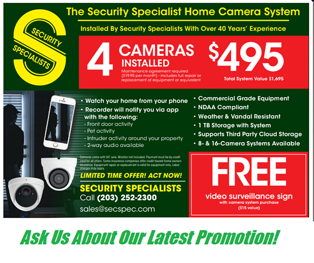 Special Promotion, Security Specialists Promotion, Limited-Timne Only Promotion, Home Camera Promotion, Home Camera Security Promotion, Security Specialists Home Promotion, security specialists residential promotion